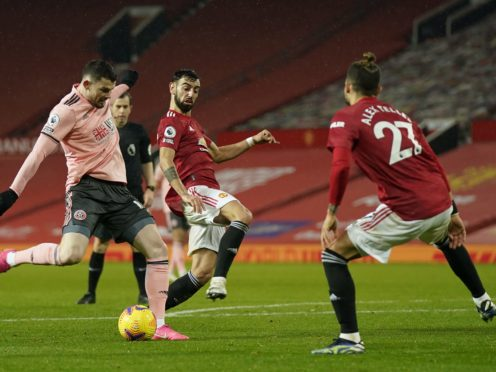 Sheffield United's Oliver Burke scored his side's winner at Manchester United (Tim Keeton/PA)