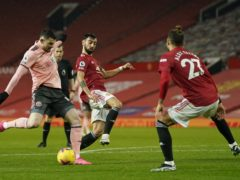 Sheffield United's Oliver Burke scored his side's winner at Manchester United (Tim Keeton/PA)