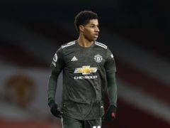 Marcus Rashford was subjected to online abuse following Manchester United's draw at Arsenal (Alastair Grant/PA)