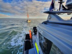 The yacht was towed to the Port of Dover by Kent Police's marine unit (Kent Police Search and Marine Unit, Tac Ops/PA)