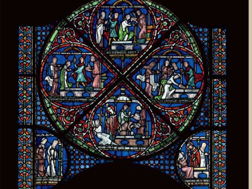 Miracle window, Canterbury Cathedral, early 1200s (The Chapter, Canterbury Cathedral)