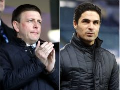 Richard Garlick (left) will join Arsenal boss Mikel Arteta at the Emirates Stadium having been appointed head of football operations (Nick Potts/PA/ Clive Brunskill/PA)