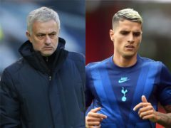 Jose Mourinho would not explain why Erik Lamela will miss Tuesday's game against Brentford (Ian Walton/Neil Hall/NMC Pool/PA)