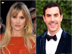 British stars Emerald Fennell and Sacha Baron Cohen have been nominated for Writers Guild Awards (Matt Crossick/Ian West/PA)