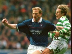 Celtic's Vidar Riseth (right) admits he was left feeling ashamed after Rangers won the title at Parkhead (David Cheskin/PA)