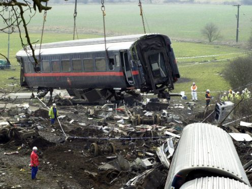 Ten people died in the Selby train crash (Matthew Fearn/PA)