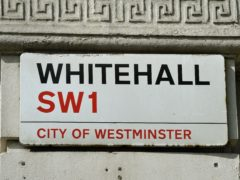 Whitehall sign (PA)