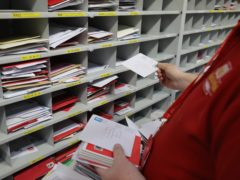 A study has suggested that almost one in three people experienced a delay in sending or receiving letters in January (Andrew Milligan/PA)