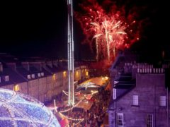 The festive season in Edinburgh has grown in recent years but was online-only last year (Jane Barlow/PA)