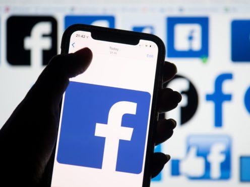 Facebook logo (Dominic Lipinski/PA)