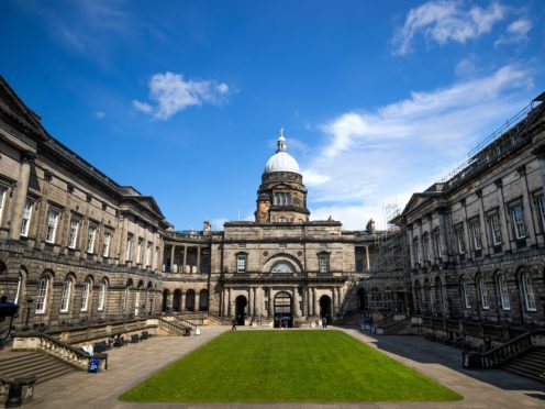 The University of Edinburgh hopes to become carbon neutral by 2040 (Jane Barlow/PA)