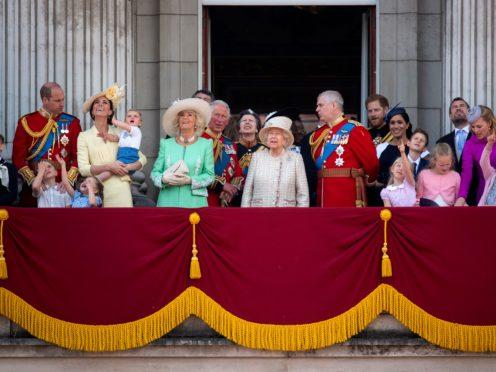The royal family on the Buckingham Palace balcony (Victoria Jones/PA)