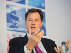 Sir Nick Clegg, vice president of global affairs at Facebook, said the firm remained open to discussing greater regulation of the tech sector (Stefan Rousseau/PA)