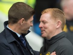 Rangers manager Steven Gerrard, left, hopes he can one day share a drink with departed Celtic boss Neil Lennon (Ian Rutherford/PA)