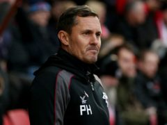 Grimsby manager Paul Hurst could hand a first start to Julien Lamy against Tranmere (Jonathan Brady/PA)