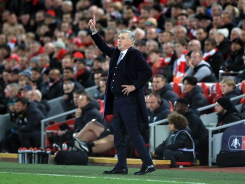 Everton manager Carlo Ancelotti feels his squad are in good shape ahead of the short trip to Anfield (Peter Byrne/PA)