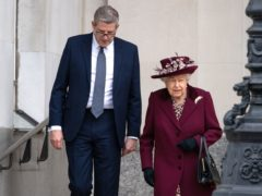 The Queen with Baron Parker, who has been announced as the new Lord Chamberlain (Aaron Chown/PA Wire