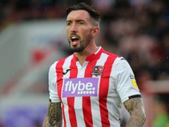Exeter striker Ryan Bowman is suspended for the Grimsby clash (Mark Kerton/PA)