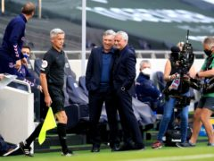 Everton manager Carlo Ancelotti, middle left, insists he is honoured to be compared to Jose Mourinho (Adam Davy/PA)