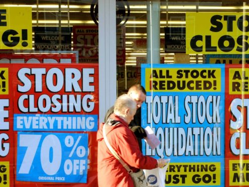 The amount paid out by the Insolvency Service in 2020 hit a 10-year high (Ian Nicholson/PA)