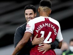 Arsenal manager Mikel Arteta says he has complete faith in captain Pierre-Emerick Aubameyang (Will Oliver/PA)