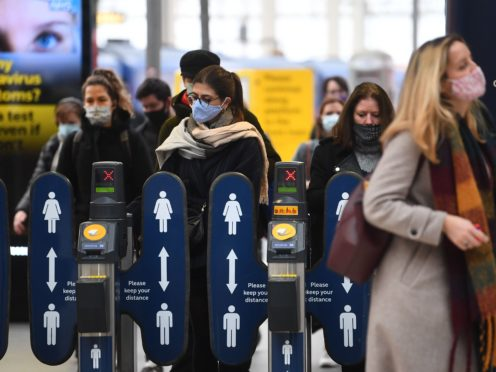 Rail passengers in England and Wales will be hit by the first above inflation fares rise for eight years on Monday (Victoria Jones/PA)
