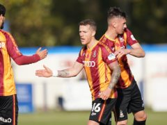Billy Clarke came off during Bradford's win over Barrow with a hamstring issue (Tess Derry/PA)