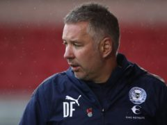 Darren Ferguson says harsh words were spoken at half time (Tim Goode/PA)