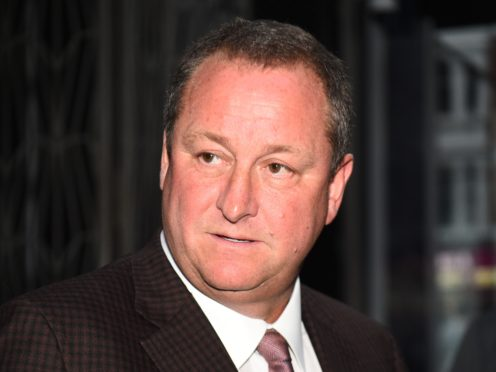 Mike Ashley's Fraser Group has warned it expects to take a £100m hit to the business from the lockdown measures. (Kirsty O'Connor / PA)