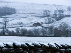 Heavy snow to hit Yorkshire overnight (Peter Byrne/PA)