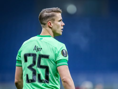 Kristoffer Ajer knows Celtic just need to keep on winning (Fabrizio Carabelli/PA)