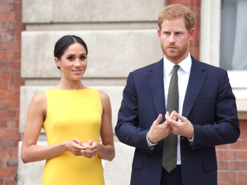 The Duke and Duchess of Sussex are to give their first televised interview about Megxit to chat show Queen Oprah Winfrey (Yui Mok/PA)