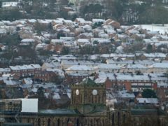 Houses in Hexham, Northumberland. The average house price slipped by 0.3% in January, in signs that an uplift in the market could be running out of steam, according to Halifax (Owen Humphreys/PA)