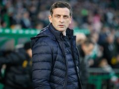 Hibernian manager Jack Ross is not changing the targets he set in pre-season (Steve Welsh/PA)