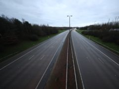 A near empty road (Danny Lawson/PA)