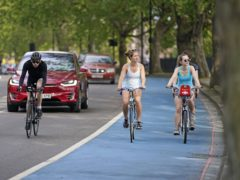 Promoting active travel to tackle climate change would also help health, a study found (Aaron Chown/PA)