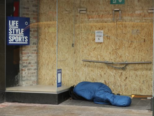 Experimental statistics estimate that 216 people in Scotland died while homeless in 2019 (Niall Carson/PA)
