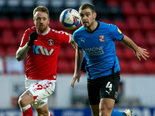Dion Conroy (right) is a doubt for Swindon (Steven Paston/PA)