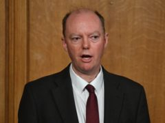 Chief Medical Officer Chris Whitty speaks during a media briefing in Downing Street, London (Justin Tallis)