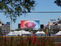 Tampa Bay's Raymond James Stadium will host Super Bowl LV on Sunday (Chris O'Meara/AP)