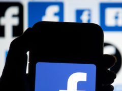 The Facebook logo (Dominic Lipinski/PA)