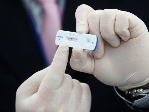 The rapid tests give results in just 15 minutes (Brian Lawless/PA)