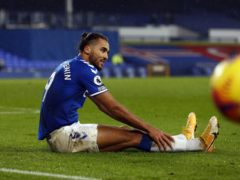 Everton striker Dominic Calvert-Lewin will miss the visit of Fulham with a hamstring injury (Jason Cairnduff/PA)