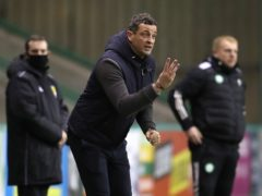Jack Ross,pictured, was delighted to keep Kevin Nisbet and Ryan Porteous at Hibs (Andrew Milligan/PA)
