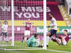 Raheem Sterling scores for Manchester City (Alex Pantling/PA)