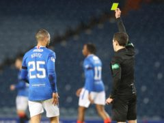 Kemar Roofe, left, was booked against St Johnstone but further action has been taken (Jeff Holmes/PA)