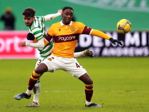 Devante Cole came close for Motherwell (Jane Barlow/PA)