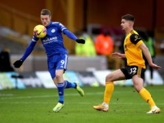Jamie Vardy made his Leicester return in their draw at Wolves. (Nick Potts/PA)
