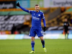 Leicester striker Jamie Vardy will play some part in the FA Cup tie at home to Brighton (Carl Recine/PA)