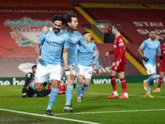 Ilkay Gundogan, left, starred in Manchester City's win (Jon Super/PA)